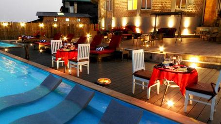 Poolside restaurant in Cherrapunji, Infinity pool in Cherrapunji-002, Polo Orchid Resort, Cherrapunji-51