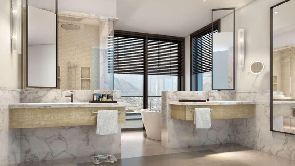 Moksha Himalaya Spa Resort, Parwanoo Chandigarh Master Bathroom