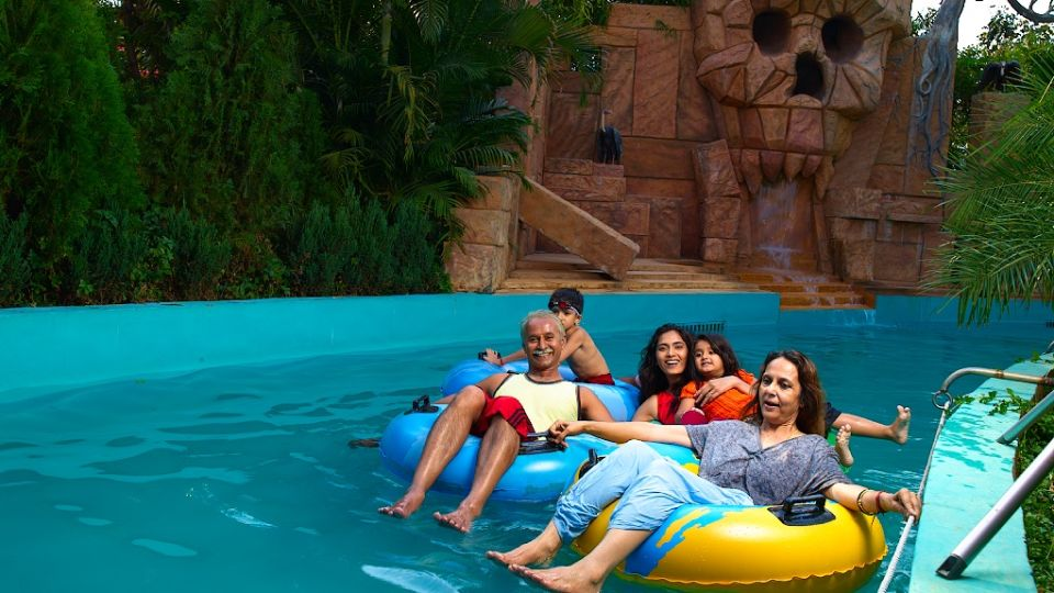 Water Rides - Lazy River at  Wonderla Amusement Park Bengaluru
