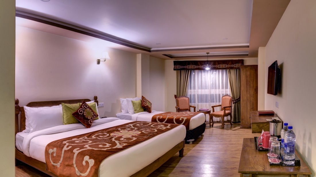 Deluxe Triple Room atSummit Hermon Hotel Spa Darjeeling