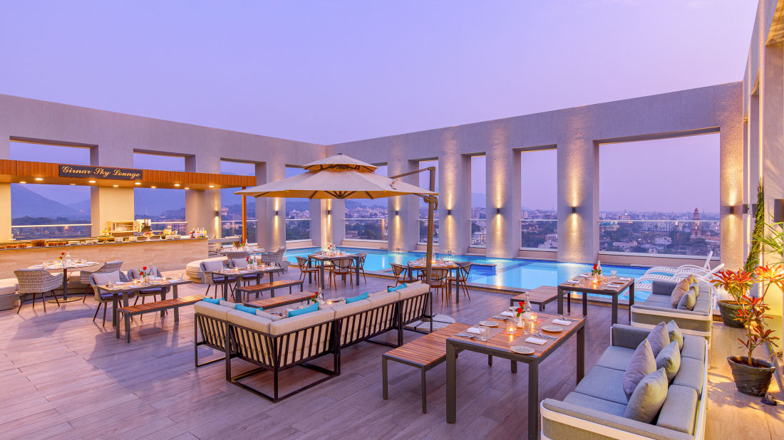 Terrace Lounge at Sarovar Junagadh 1