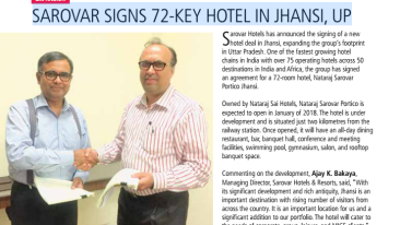 Expansion in Jhansi, Sarovar Hotels, Leading chain of hotels in India