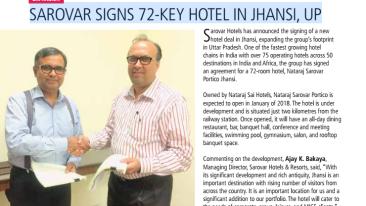 Sarovar Hotels Expansion Jhansi