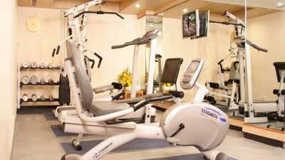 Gym at Aditya Park Hyderabad, best business hotel in hyderabad