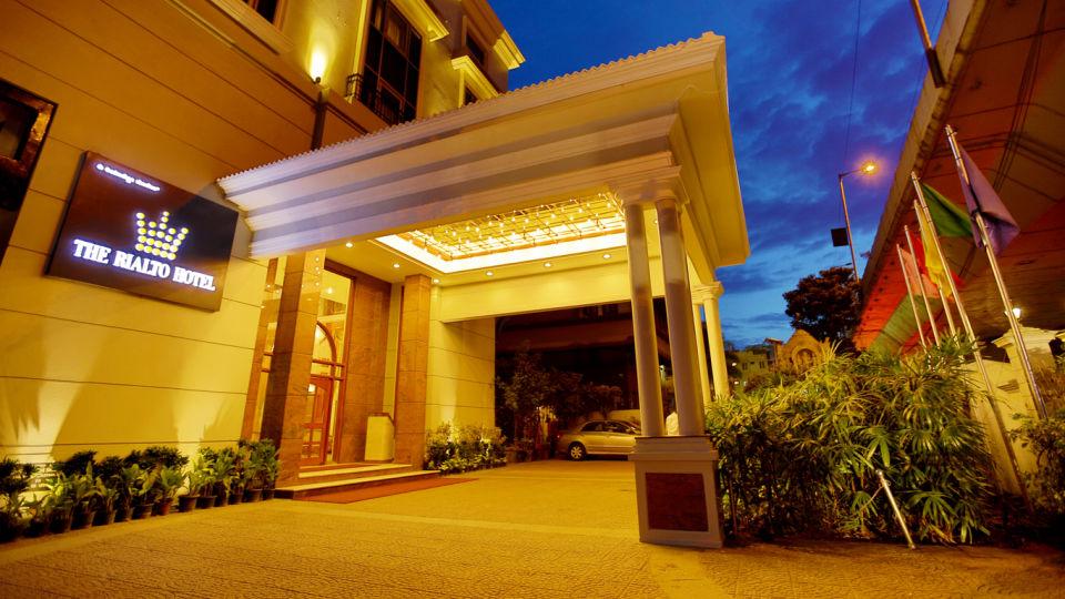 The Rialto Hotel Bangalore Bangalore Facade Nightview 5 The Rialto Hotel Bangalore
