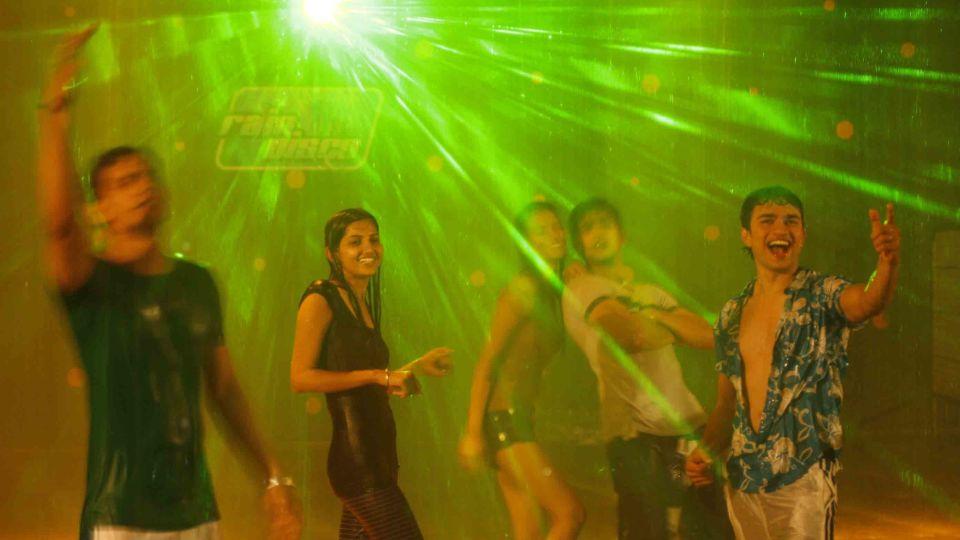 Water Rides - Rain Disco at  Wonderla Amusement Park Bengaluru