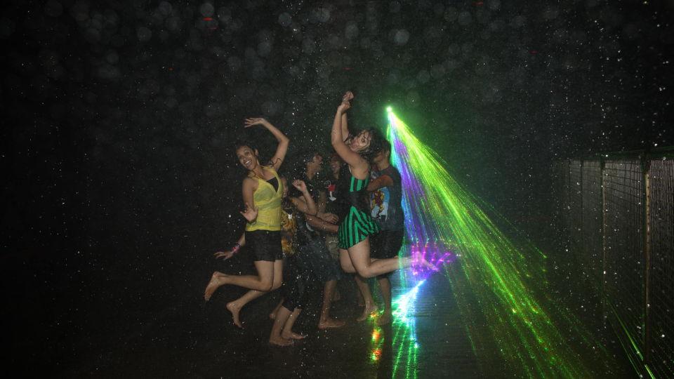 Water Rides - Rain Disco at  Wonderla Amusement Park Bangalore