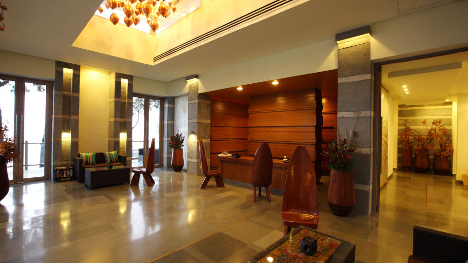 Moksha Himalaya Spa Resort, Chandigarh Chandigarh Reception Lounge Moksha Himalaya Spa Resort Chandigarh 6