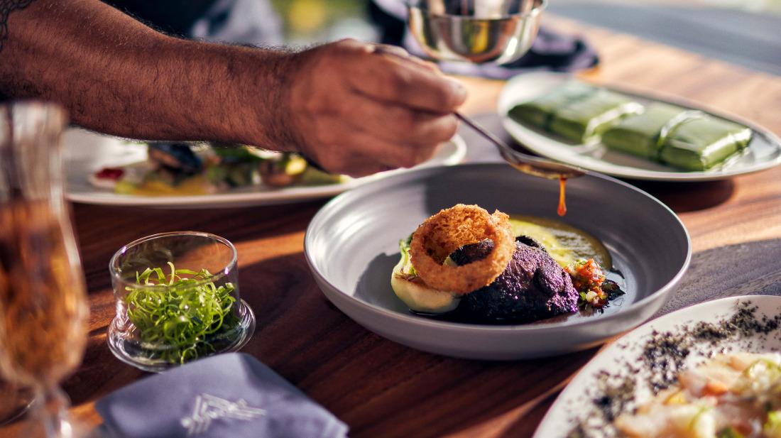 Preparing food at the villa with chef service in Goa - Villa in Palms by V Escapes