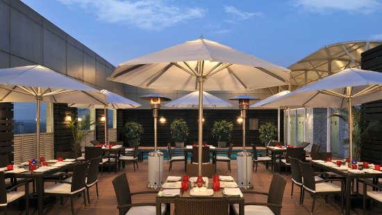 Pool side Park Plaza Faridabad