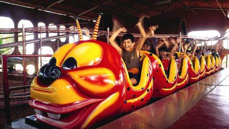 Kids Rides - Caterpillar at  Wonderla Kochi Amusement Park