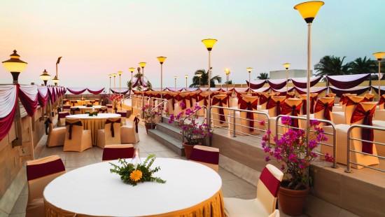 Roof top banquet Hall at Hotel Ramada Plaza Palm Grove Juhu Beach Mumbai, Roof top Banquets in Juhu Mumbai