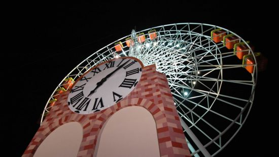 Dry Rides - Giant Wheel at  wonderla Amusement Park Bengaluru