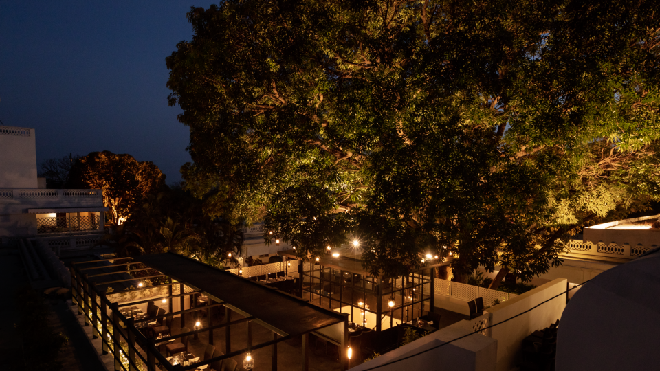 under the mango tree-Jehan Numa Palace BhopalBest restaurant in Bhopal 1def
