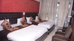 Family Bed Room at Hotel Trishul -  Budget Hotels, Har ki Pauri Hotels, Haridwar Hotels