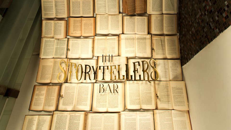 Storytellers Bar signage 2