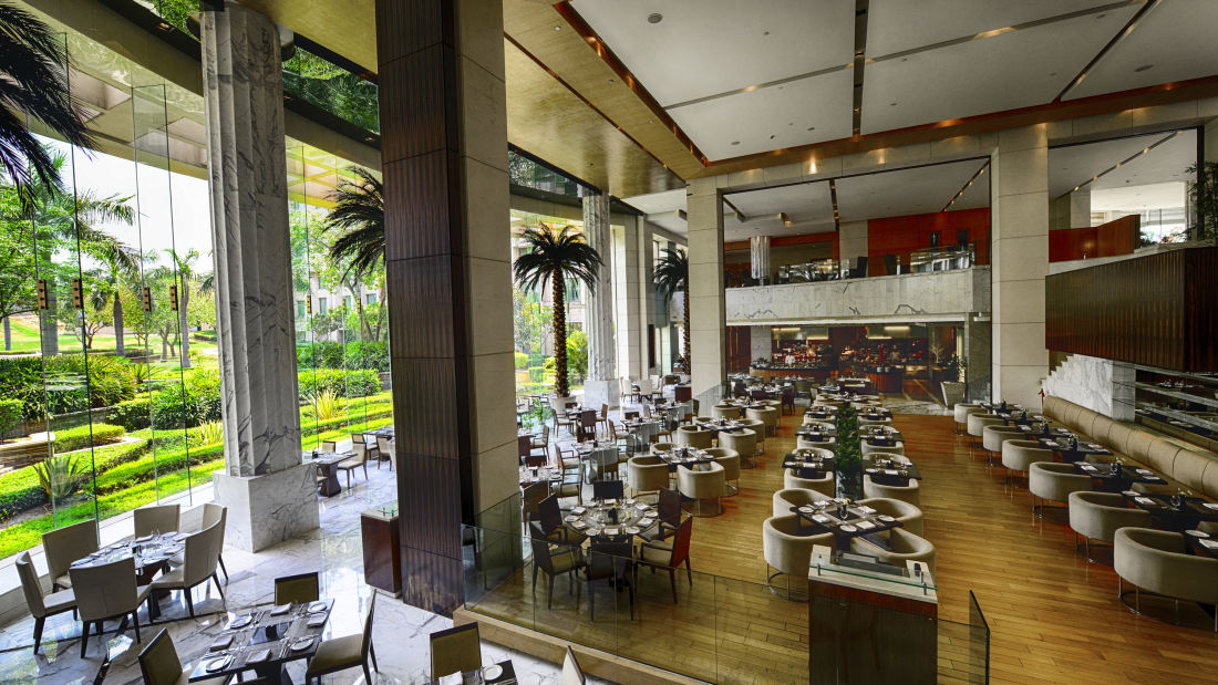 The Grand New Delhi New Delhi Cascades Multi-cuisine Restaurat 1 at The Grand New Delhi Hotel on Nelson Mandela Road
