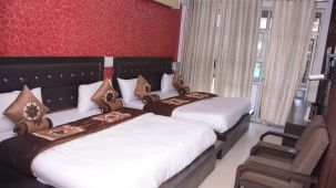 Family Bed Room at Hotel Trishul -  Budget Hotels, Har ki Pauri Hotels, Haridwar Hotels