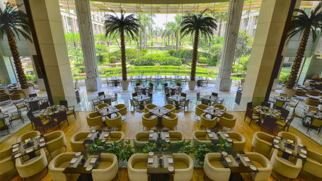 The Grand New Delhi New Delhi Cascades Multi-cuisine Restaurat at The Grand New Delhi Hotel on Nelson Mandela Road