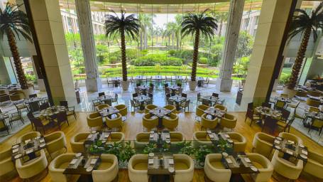 The Grand New Delhi New Delhi Cascades Multi-cuisine Restaurat at The Grand New Delhi Hotel on Nelson Mandela Road