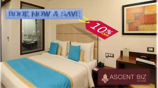 10% Discount at Ascent Biz Hotel Noida, best hotels in noida