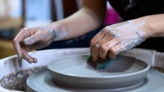 pottery class at Niraamaya