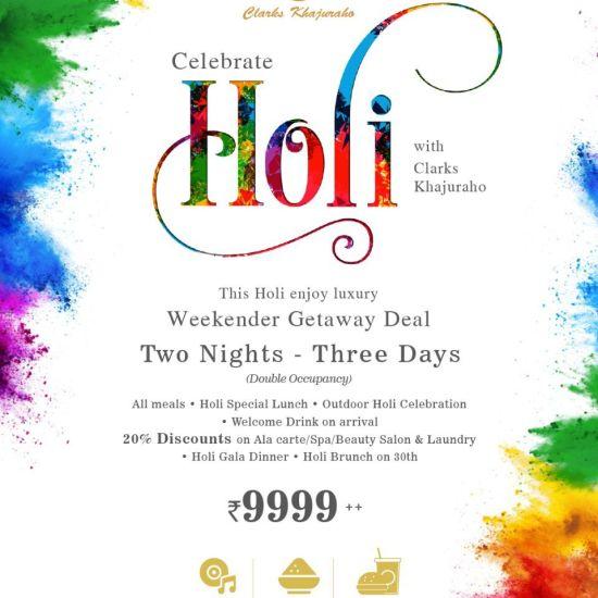 Holi Package 02 - Clarks Khajuraho