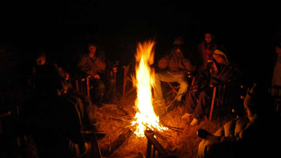 Bonfire at Wild Brook Retreat, Rajaji National Park
