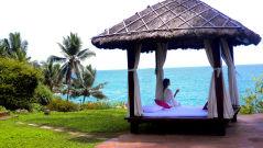 Yoga spot at Niraamaya Surya Samudra Resorts in Kovalam