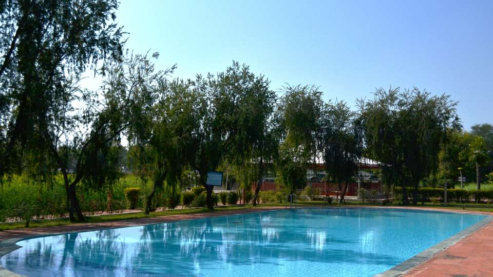 Swimming Pool at Umaid Lake Palace Hotel Kalakho Dausa Rajasthan