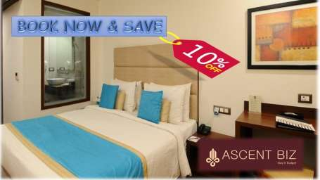 10% Discount at Ascent Biz Hotel Noida, best hotels in noida