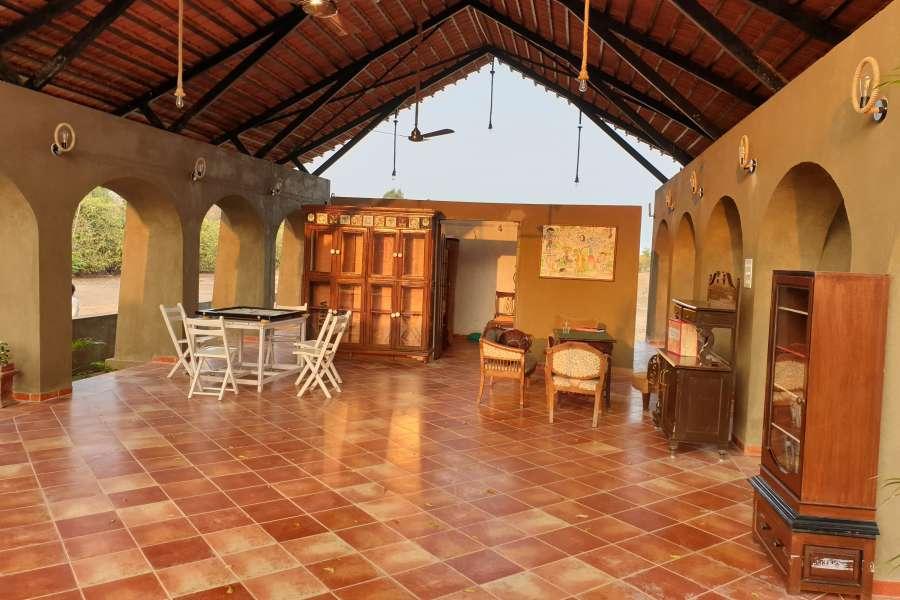 alt-text Reception cum Lounge Bodhvann Resort Tadoba 4 qcp6xj