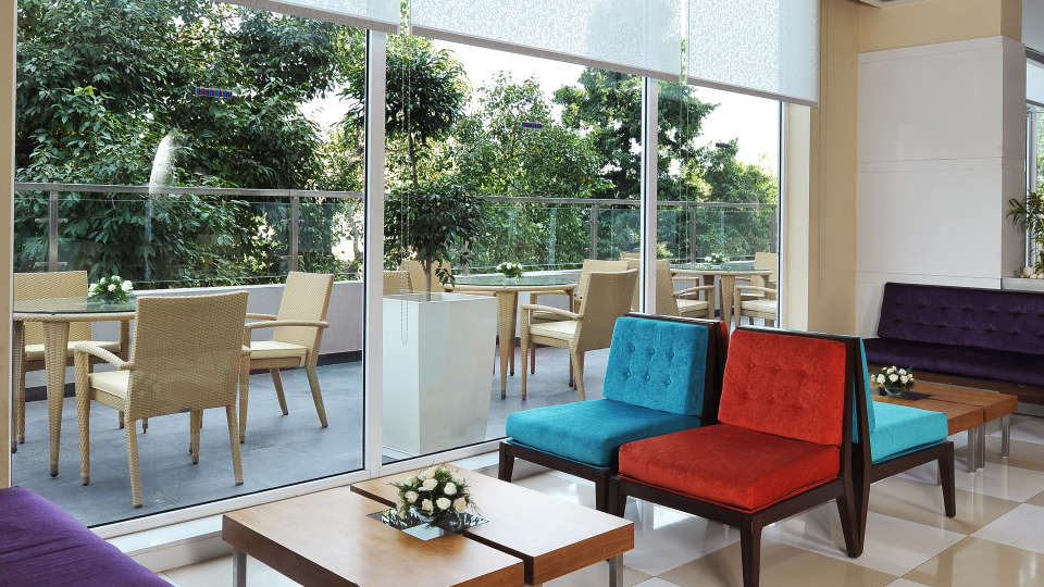 Lobby at  Hometel Chandigarh, business hotels in chandigarh 1