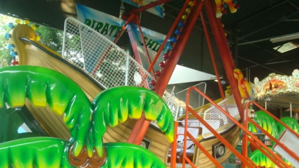 Kids Rides - Pirate Ship at  Wonderla Kochi Amusement Park