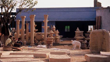 Sikandra Stone at Umaid Lake Palace Hotel Kalakho Dausa Rajasthan