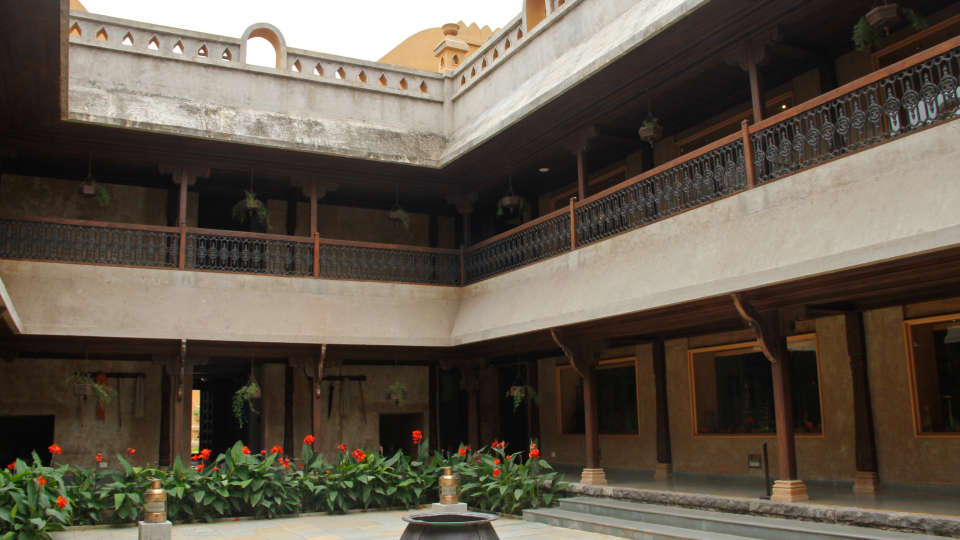 Lobby of  Fort Jadhavgadh Heritage Resort Hotel Pune