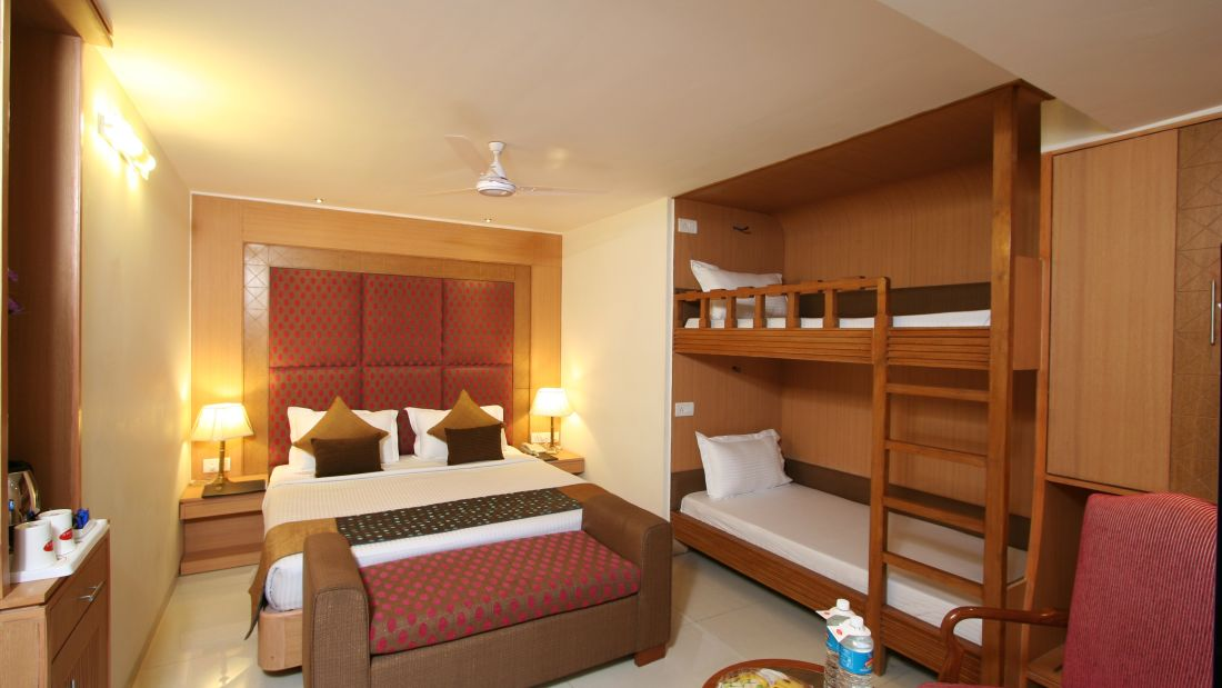 Beds in Family suites of Hotel Southern in New Delhi