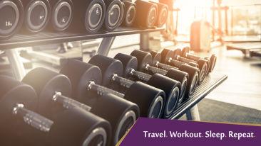 Travel. Workout. Sleep. Repeat Mount Milestone.