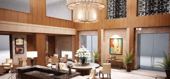 lobby golden Poetree Sarovar Portico Thekkady  best hotel in Thekkady