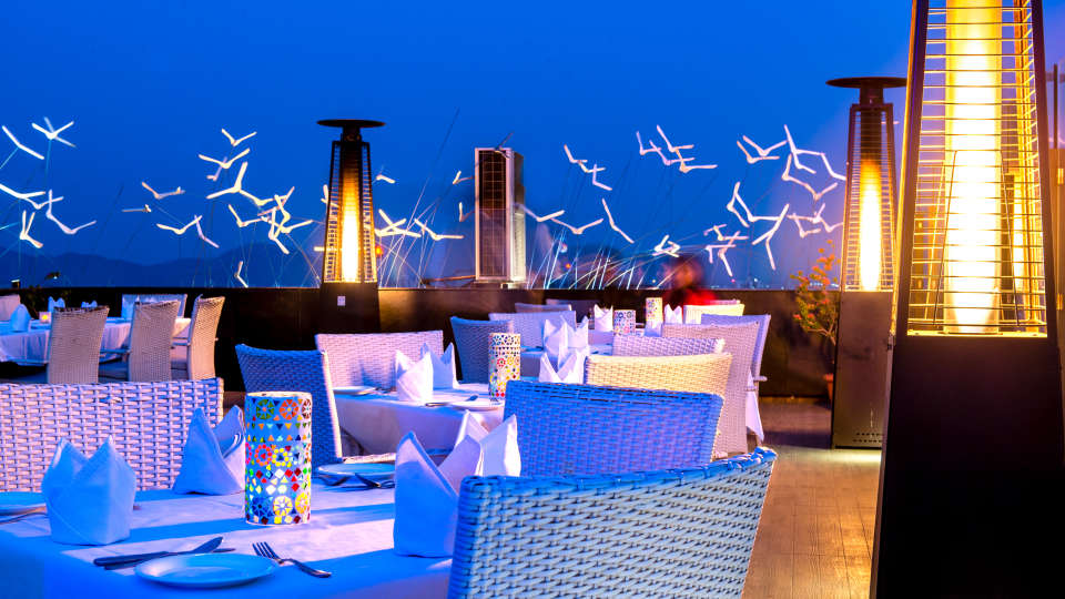 SORA, Open Air Rooftop Restaurant in Jaipur, Clarks Amer