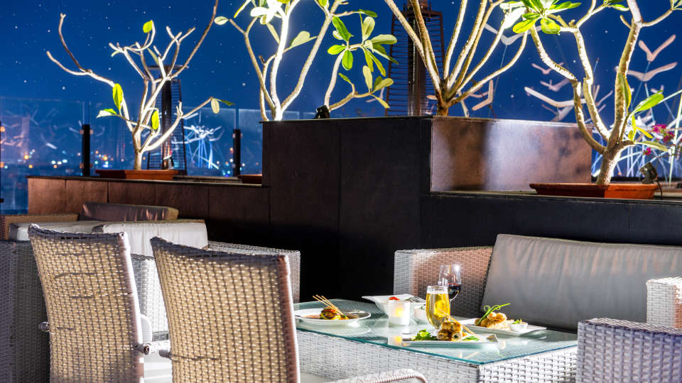 SORA, Open Air Rooftop Restaurant in Jaipur, Clarks Amer, bars in jaipur