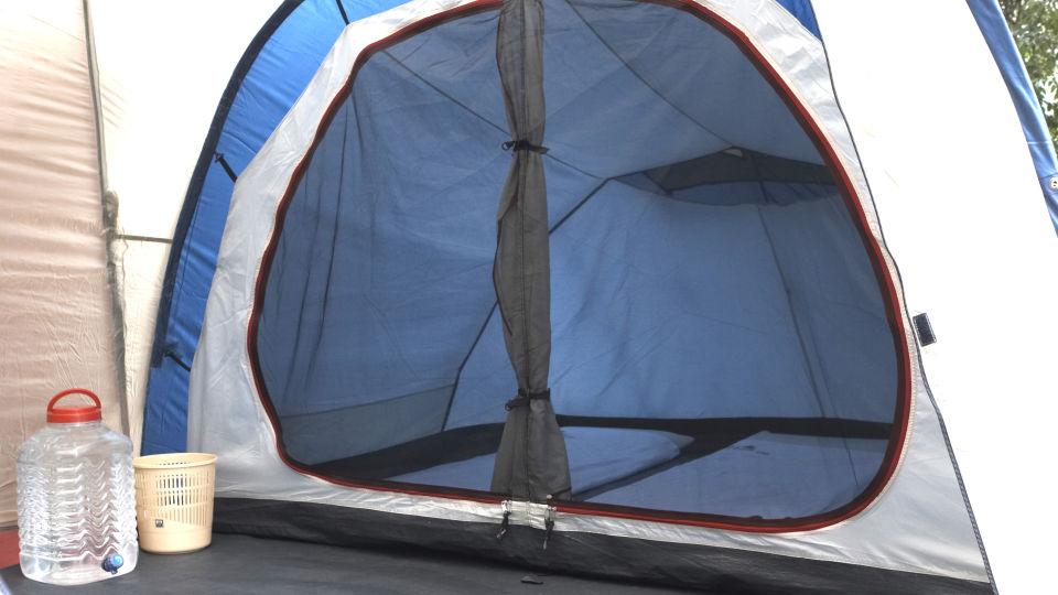 Heaven's Ledge - Campsite, Yercaud Yercaud inside the tent 1 heavens ledge campsite yercaud