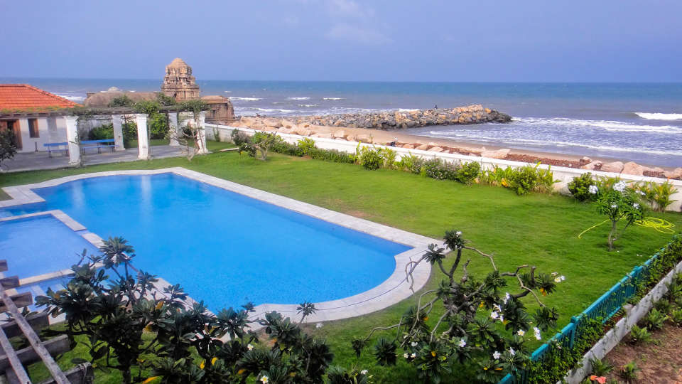 Swimming Pool, The Bungalow on the Beach Tranquebar, Hotels In Tranquebar