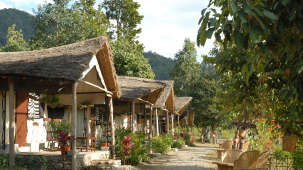 Tents at The Hideaway River Lodge - Corbett Resort in jim corbett national park