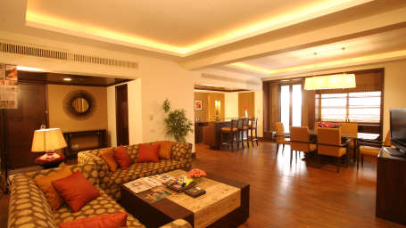 Deluxe Suite Living Room at The Retreat Hotel and Convention Centre Madh Island Mumbai