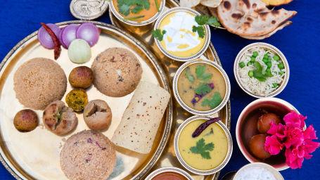 Dining at Bara Bungalow Kalwar, Jaipur 2, Restaurant in Kalwar