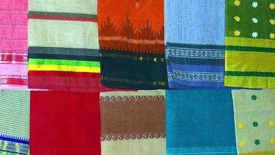 Bengal saris on display