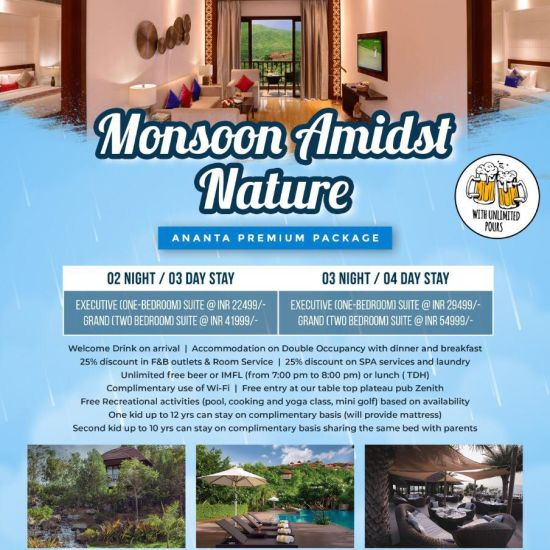 Udaipur Monsoon premium Pkg