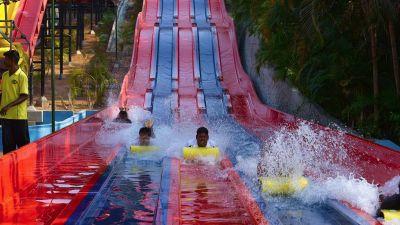 Water Rides - Fun Glider at Wonderla Kochi Amusement Park