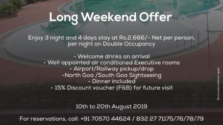 Long Weekend Offer